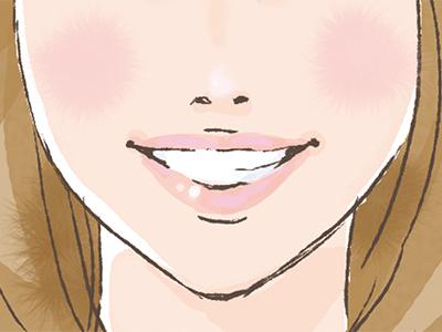 キレイな歯並び