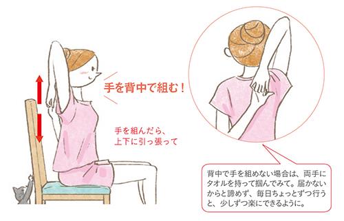座ったままできる! 肩まわりの血行不良を改善プチヨガ──ながら美容──